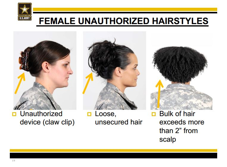New Army Regulation Prohibits Ethnic Hair Styles Campus Noir